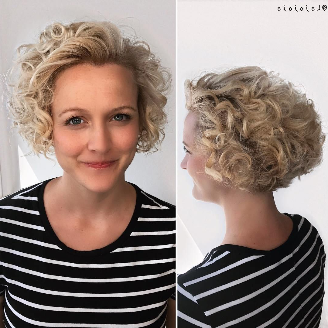 60 Most Delightful Short Wavy Hairstyles   Hairstyles   Pinterest Throughout Nape Length Blonde Curly Bob Hairstyles (Gallery 1 of 25)