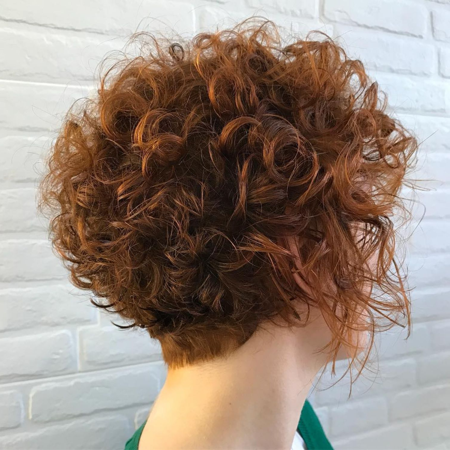60 Most Delightful Short Wavy Hairstyles In 2018 | Hair Ideas With Tapered Brown Pixie Hairstyles With Ginger Curls (Gallery 4 of 25)