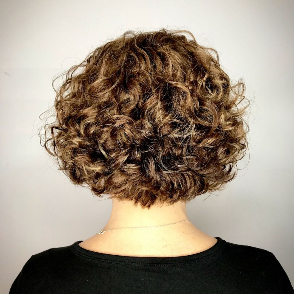 60 Most Delightful Short Wavy Hairstyles In 2018   Hair Style Regarding Nape Length Curly Balayage Bob Hairstyles (Gallery 5 of 25)