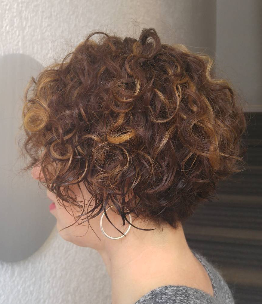 60 Most Delightful Short Wavy Hairstyles Intended For Angled Brunette Bob Hairstyles With Messy Curls (Gallery 4 of 25)