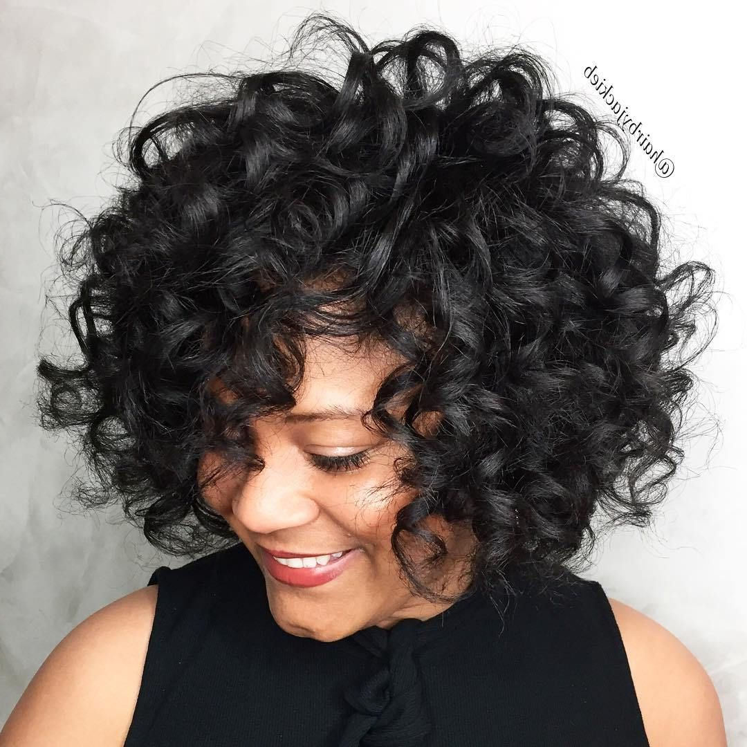 60 Most Delightful Short Wavy Hairstyles | Peinados | Pinterest With Regard To Bouncy Curly Black Bob Hairstyles (View 4 of 25)