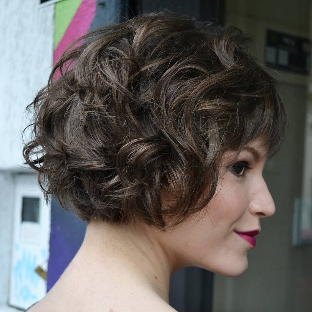 60 Most Delightful Short Wavy Hairstyles | Style | Pinterest | Ash With Nape Length Wavy Ash Brown Bob Hairstyles (Gallery 3 of 25)