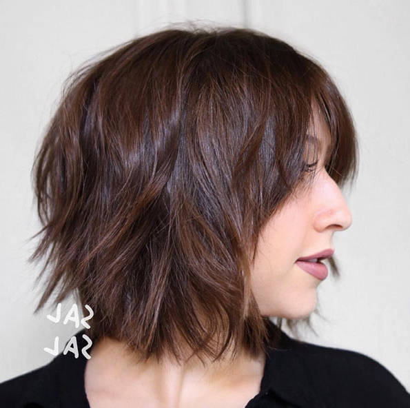 60 Popular Choppy Bob Hairstyles – Style Skinner In Choppy Brown And Lavender Bob Hairstyles (View 25 of 25)