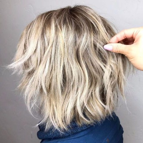 60 Short Shag Hairstyles That You Simply Can't Miss | Haircuts Pertaining To Wavy Bronde Bob Shag Haircuts (Gallery 6 of 25)