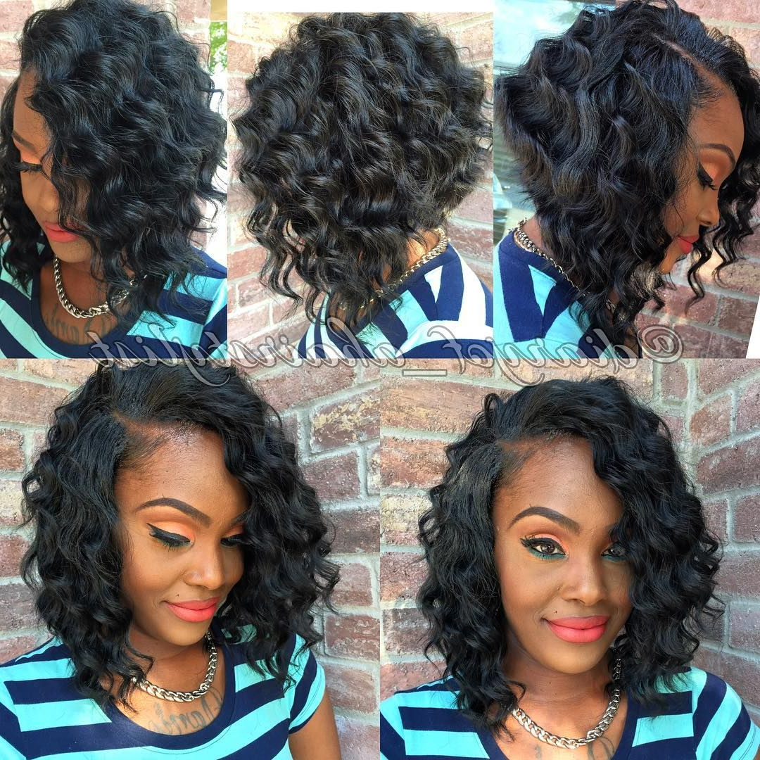 60 Showiest Bob Haircuts For Black Women In 2018 | I Like That For Bouncy Curly Black Bob Hairstyles (Gallery 1 of 25)