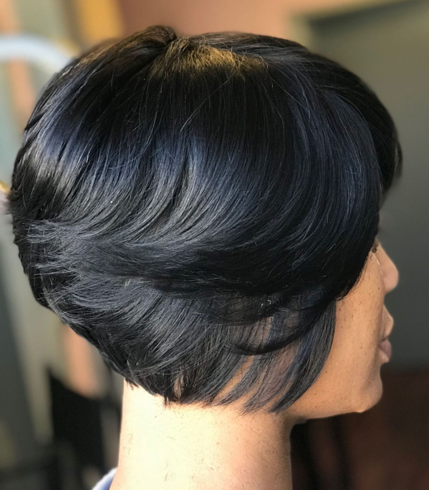 60 Showiest Bob Haircuts For Black Women | Natural Hairstyles With Regard To Black Short Layered Hairstyles (View 23 of 25)