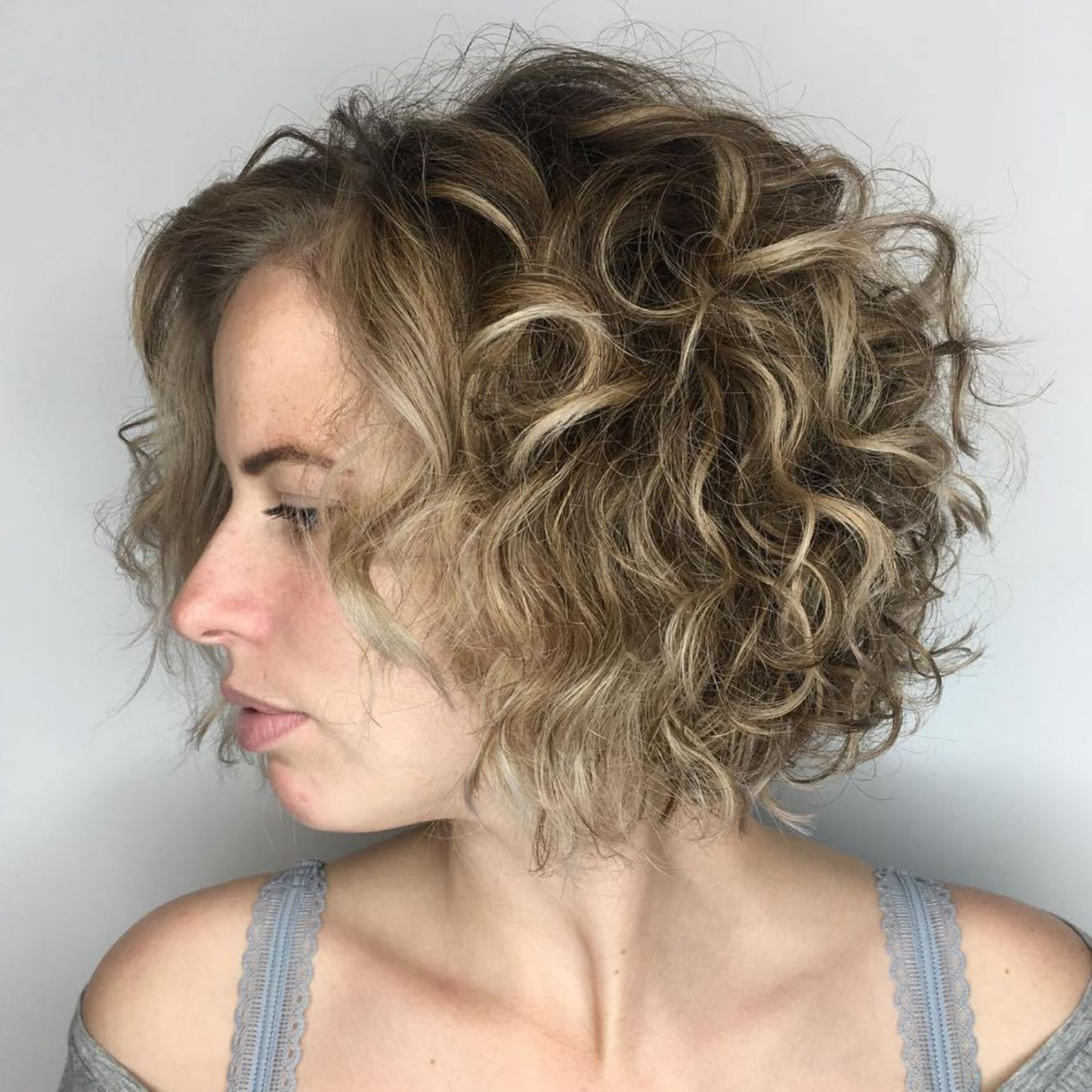 60 Styles And Cuts For Naturally Curly Hair In 2018 | Hair <3 Throughout Angelic Blonde Balayage Bob Hairstyles With Curls (View 5 of 25)