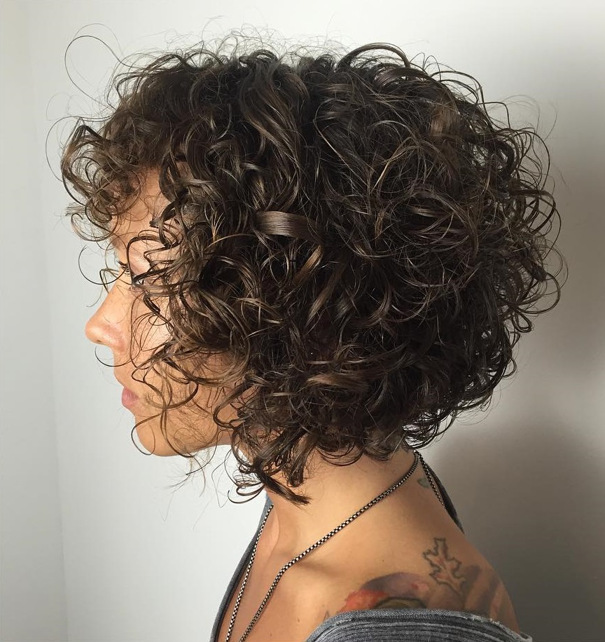 60 Styles And Cuts For Naturally Curly Hair In 2018 With Golden Brown Thick Curly Bob Hairstyles (View 17 of 25)
