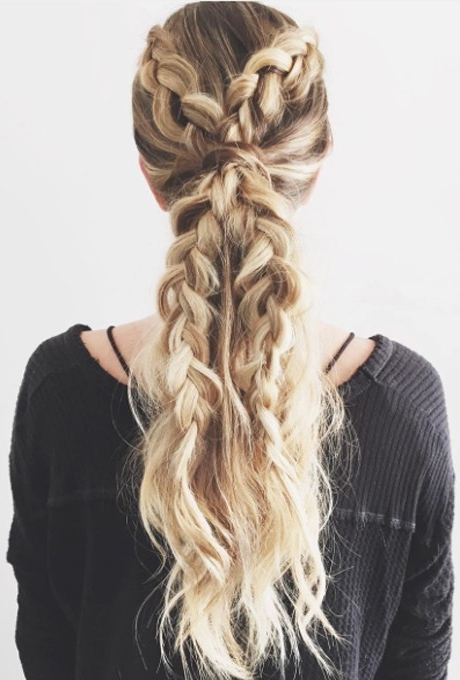 61 Braided Wedding Hairstyles | Brides With Intricate And Messy Ponytail Hairstyles (View 12 of 25)