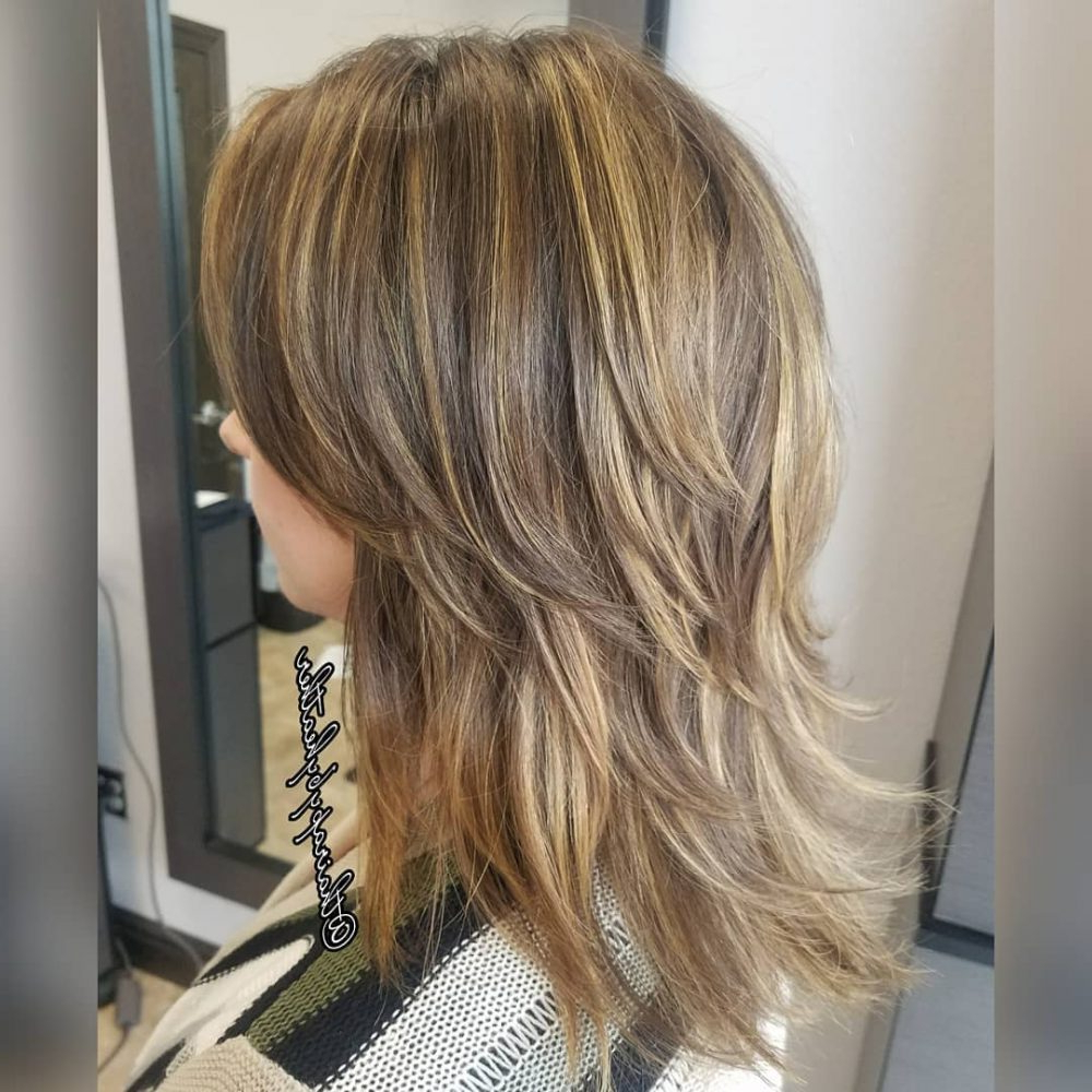 61 Chic Medium Shag Haircuts For 2018 Within Short Bob Hairstyles With Whipped Curls And Babylights (Gallery 16 of 25)
