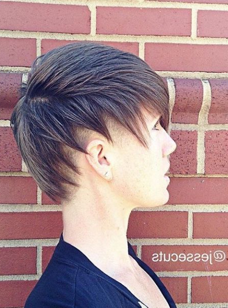 66 Shaved Hairstyles For Women That Turn Heads Everywhere Throughout Layered Pixie Hairstyles With Nape Undercut (Gallery 17 of 25)