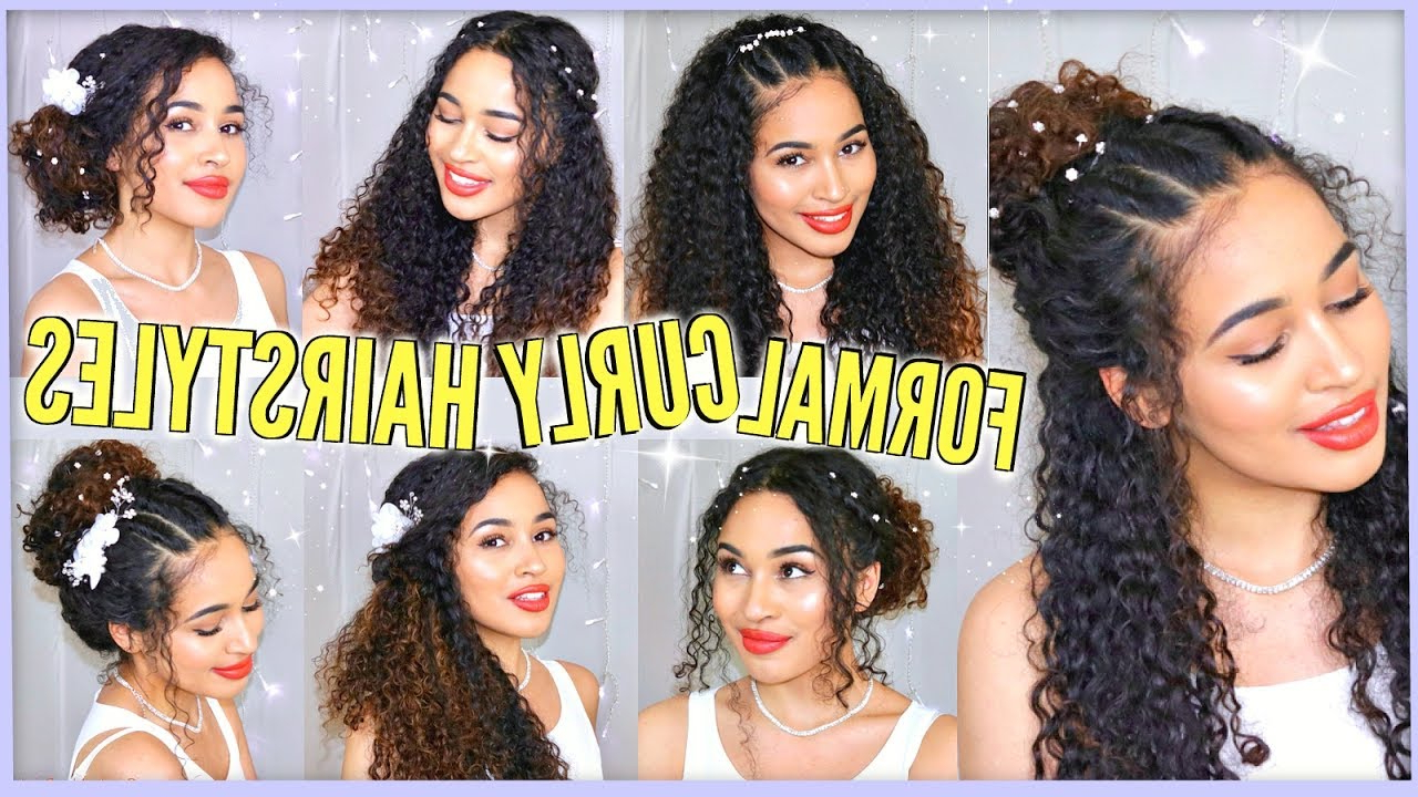 7 Best Curly Hairstyles For Prom, Graduation, Formals & Weddings Within Naturally Curly Hairstyles (Gallery 1 of 25)