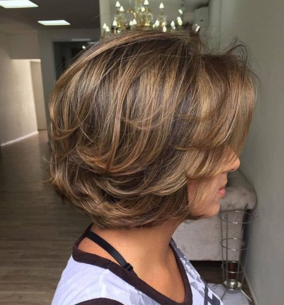 7+ Best Layered Bob Hairstyles For Women 2018 | Hair & Makeup Inside Chin Length Layered Haircuts (Gallery 5 of 25)