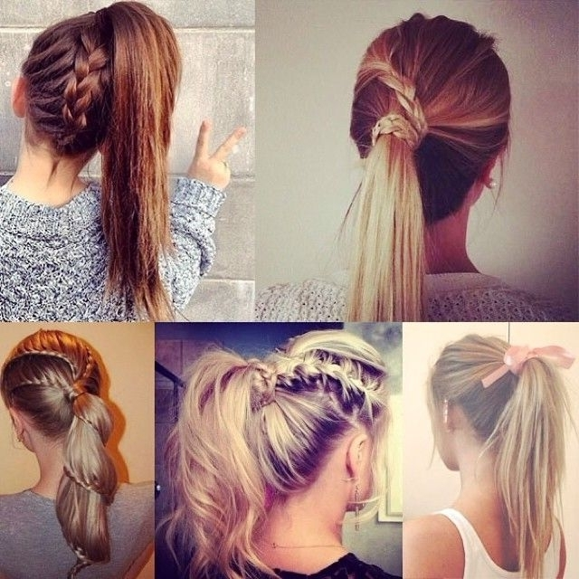 7 Easy And Chic Ponytail Hairstyle For Girls Back To School Pertaining To Artistically Undone Braid Ponytail Hairstyles (Gallery 4 of 25)