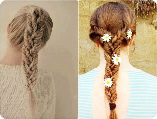 7 Easy And Chic Ponytail Hairstyle For Girls Back To School Regarding Fishtail Ponytails With Hair Extensions (View 9 of 25)