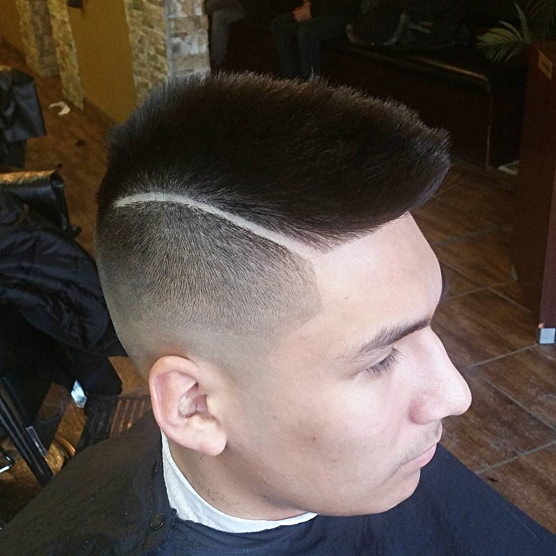 70 Amazing Sexy Faux Hawk Fade Haircuts – (New In 2018) Inside Semi Short Layered Haircuts (Gallery 21 of 25)