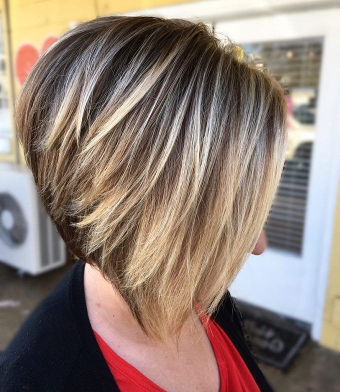 70 Best A Line Bob Hairstyles Screaming With Class And Style | Hair With Regard To Stacked Blonde Balayage Bob Hairstyles (Gallery 1 of 25)