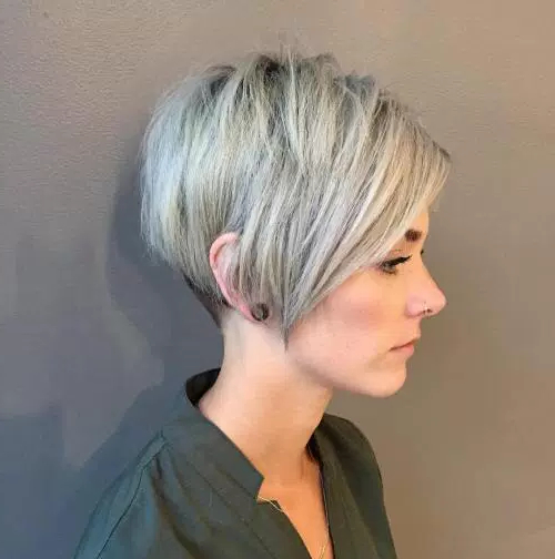 70 Cute And Easy Short Layered Hairstyles | Page 47 Pertaining To Long Messy Ash Blonde Pixie Haircuts (View 4 of 25)