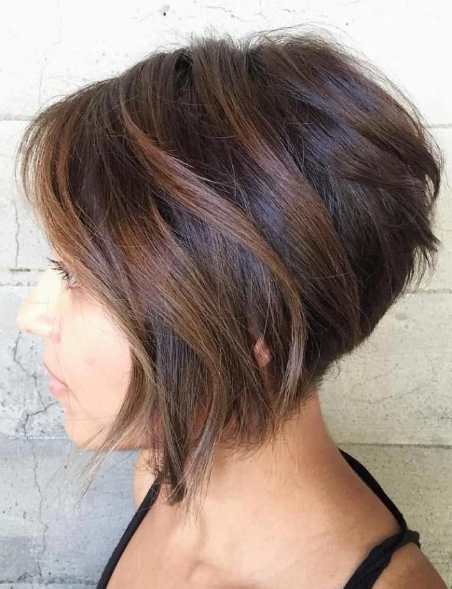 70 Cute And Easy To Style Short Layered Hairstyles | Balayage Throughout Layered Balayage Bob Hairstyles (View 21 of 25)