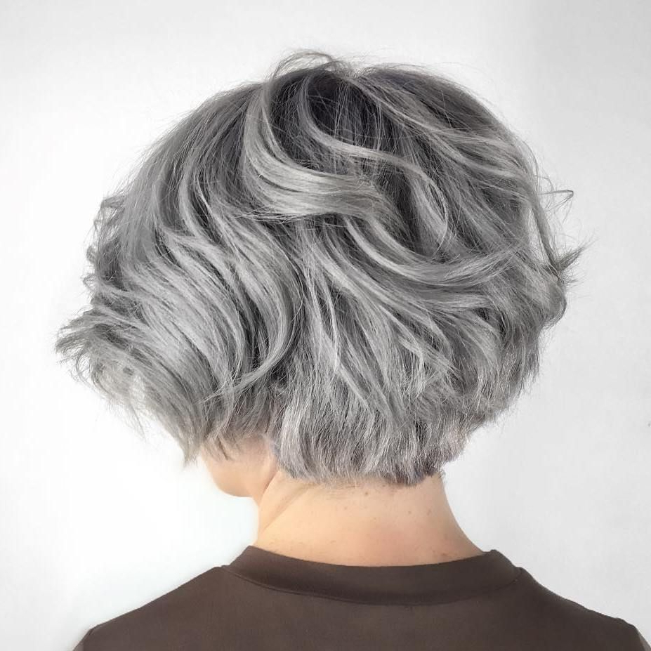 70 Cute And Easy To Style Short Layered Hairstyles | Hair Inside Short Hairstyles For Grey Haired Woman (Gallery 11 of 25)