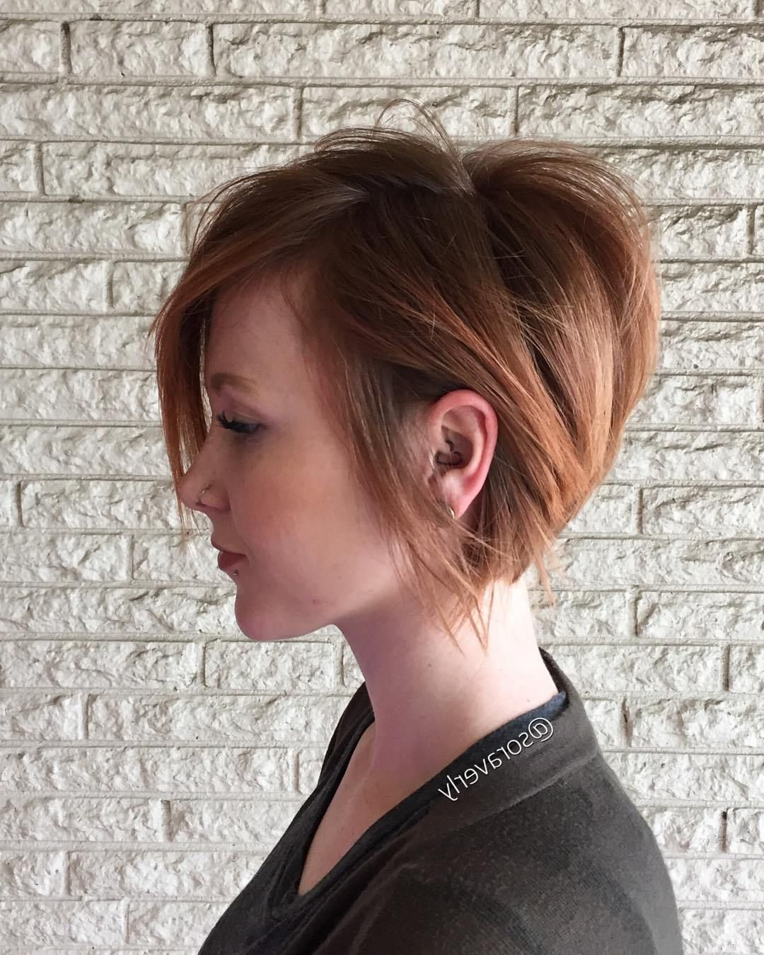 70 Cute And Easy To Style Short Layered Hairstyles | Hair Layers Regarding Strawberry Blonde Short Hairstyles (View 5 of 25)