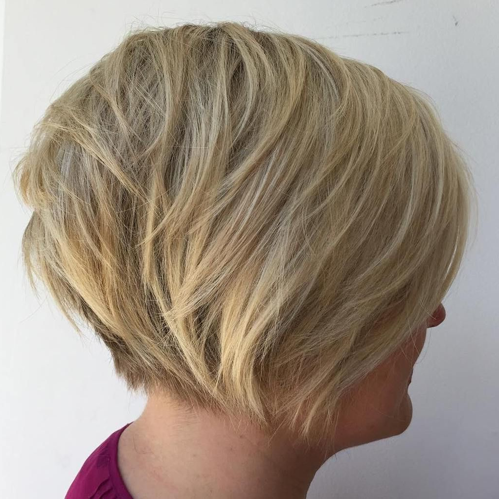 70 Cute And Easy To Style Short Layered Hairstyles | Hair Within Nape Length Blonde Curly Bob Hairstyles (Gallery 7 of 25)