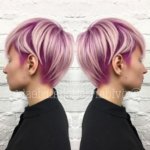 70 Cute And Easy To Style Short Layered Hairstyles | Undercut Pixie Inside Pastel Pink Textured Pixie Hairstyles (Gallery 20 of 25)