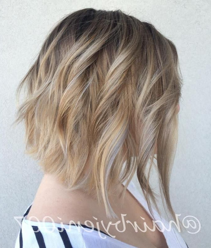 70 Darn Cool Medium Length Hairstyles For Thin Hair | Bobs, Wavy With Regard To Wavy Bronde Bob Shag Haircuts (Gallery 12 of 25)