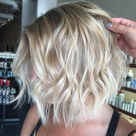 70 Devastatingly Cool Haircuts For Thin Hair In 2018 | 2018 Platinum For Short Wavy Blonde Balayage Bob Hairstyles (View 22 of 25)