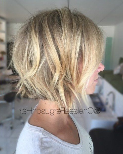 70 Devastatingly Cool Haircuts For Thin Hair In 2018 | Hair Inside Choppy Wispy Blonde Balayage Bob Hairstyles (Gallery 9 of 25)