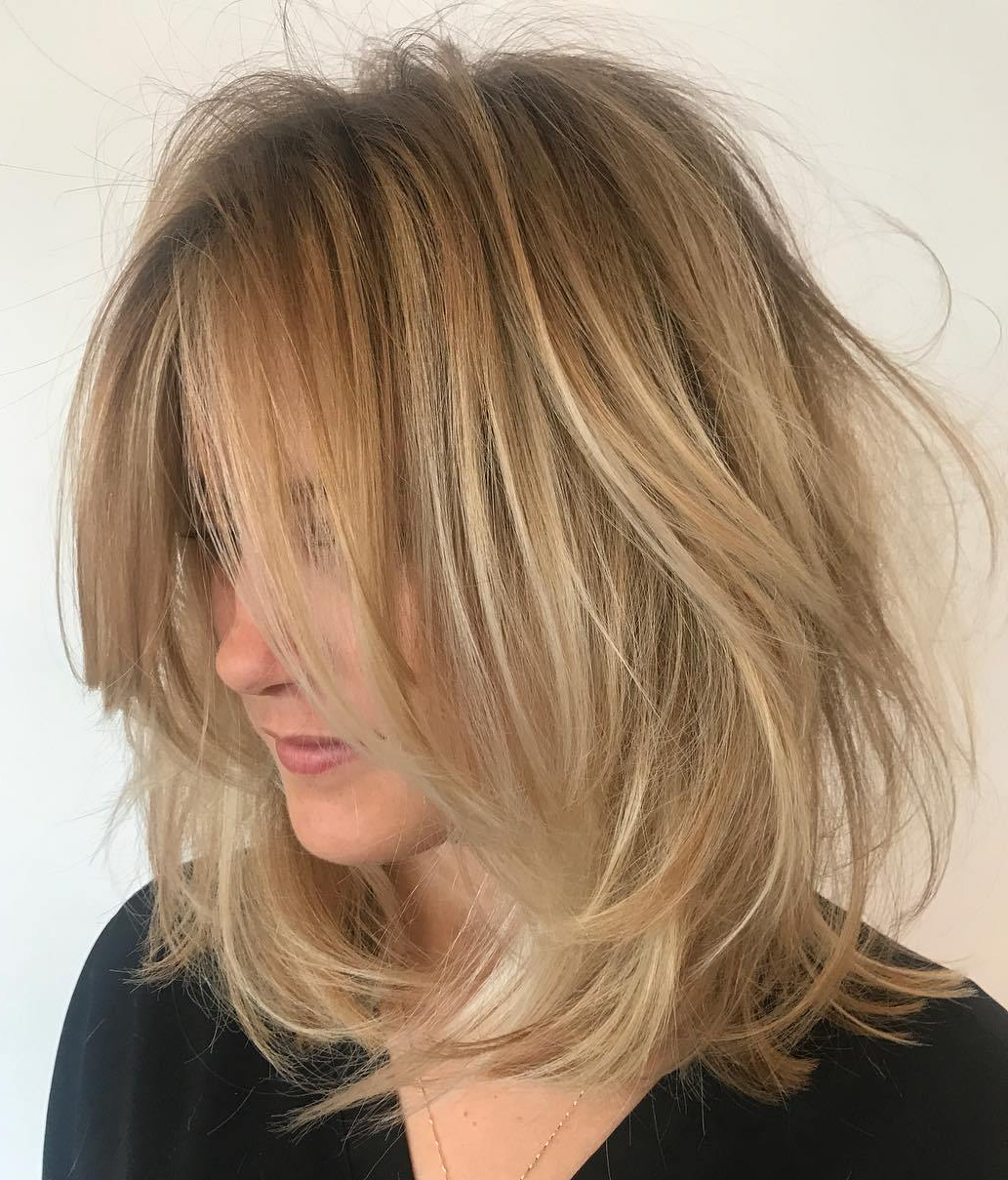 70 Devastatingly Cool Haircuts For Thin Hair Regarding Tousled Wavy Blonde Bob Hairstyles (View 6 of 25)