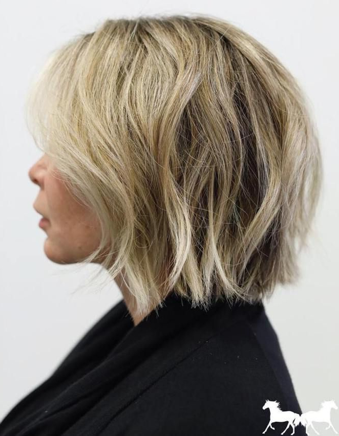 70 Fabelhafte Abgehackte Bob Frisuren | Haare | Pinterest | Choppy Throughout Dynamic Tousled Blonde Bob Hairstyles With Dark Underlayer (Gallery 4 of 25)