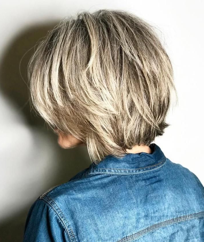 70 Fabulous Choppy Bob Hairstyles | Hair Styles | Pinterest | Blonde In Dynamic Tousled Blonde Bob Hairstyles With Dark Underlayer (Gallery 7 of 25)