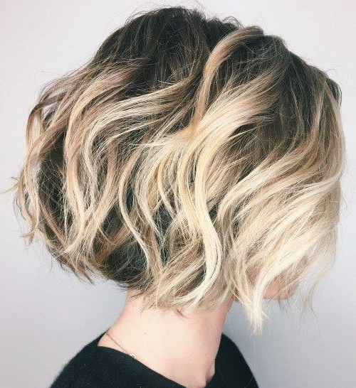 Featured Photo of High Contrast Blonde Balayage Bob Hairstyles