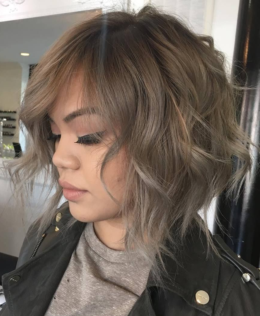 70 Fabulous Choppy Bob Hairstyles In 2018 | Eh | Pinterest | Hair For Golden Brown Thick Curly Bob Hairstyles (Gallery 7 of 25)