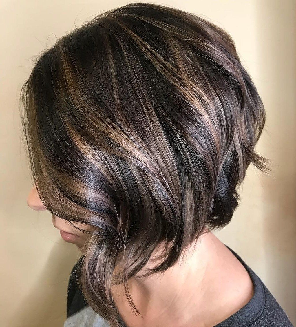 70 Fabulous Choppy Bob Hairstyles In 2018 | Gorgeous Hair Regarding Edgy Brunette Bob Hairstyles With Glossy Waves (Gallery 6 of 25)
