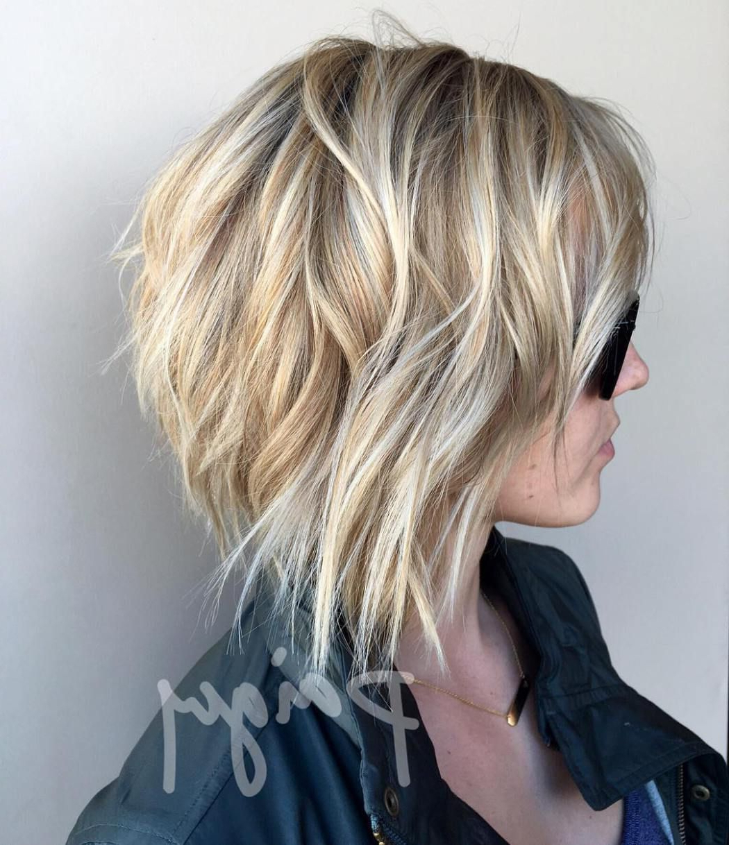 70 Fabulous Choppy Bob Hairstyles In 2018 | Hairstyles | Pinterest Pertaining To Choppy Golden Blonde Balayage Bob Hairstyles (Gallery 3 of 25)