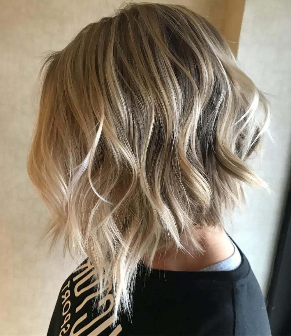 70 Fabulous Choppy Bob Hairstyles | Lob, Hair Style And Gold Blonde Pertaining To Choppy Golden Blonde Balayage Bob Hairstyles (Gallery 16 of 25)