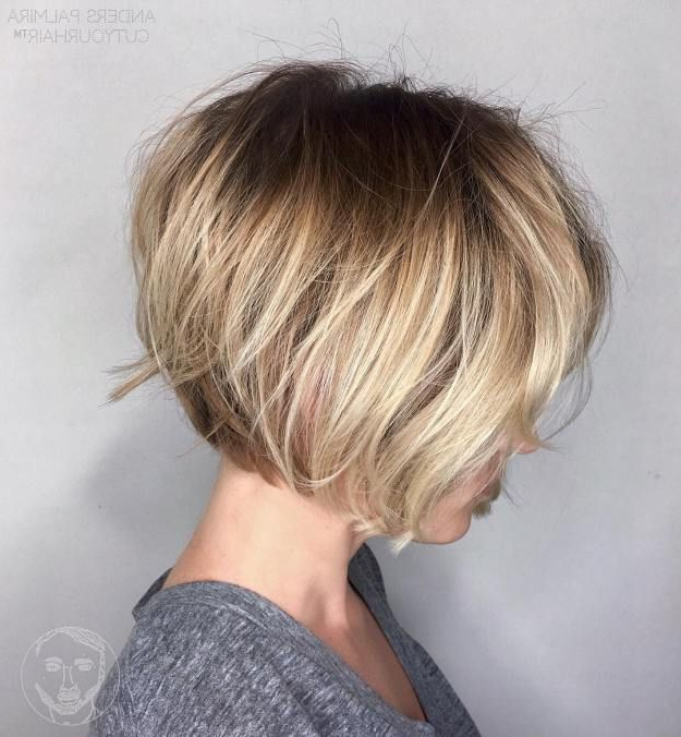 70 Winning Looks With Bob Haircuts For Fine Hair | Hairstyles Within Messy Jaw Length Blonde Balayage Bob Haircuts (Gallery 1 of 25)