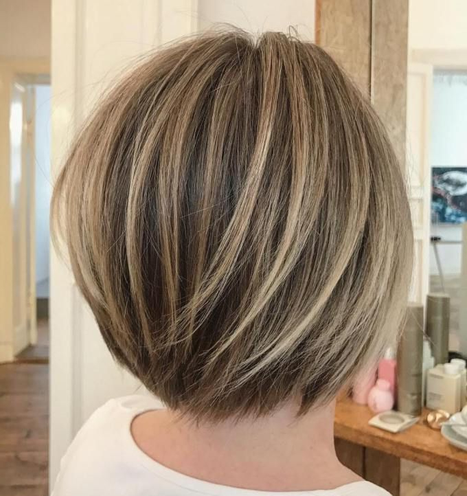 70 Winning Looks With Bob Haircuts For Fine Hair | Subtle Balayage Inside Short Stacked Bob Hairstyles With Subtle Balayage (Gallery 2 of 25)