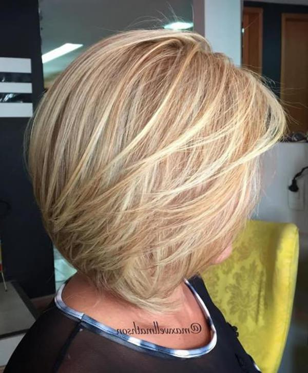 75 Amazing Hairstyles For Any Woman Over 40 – Style Easily Inside Angled Burgundy Bob Hairstyles With Voluminous Layers (Gallery 24 of 25)