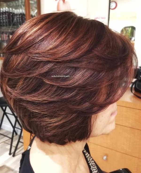 75 Amazing Hairstyles For Any Woman Over 40 – Style Easily Regarding Angled Burgundy Bob Hairstyles With Voluminous Layers (View 21 of 25)