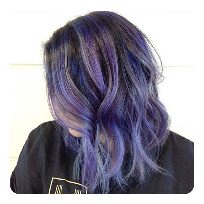 76 Long Bob Hairstyles That You'll Surely Love In Lavender Haircuts With Side Part (View 7 of 25)