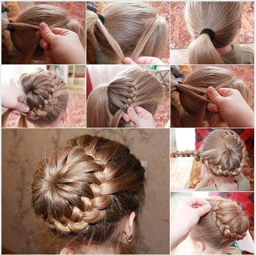 8 Best All About Hair Images On Pinterest Bridal Hairstyles Ponytail Regarding Braid And Bun Ponytail Hairstyles (Gallery 18 of 25)