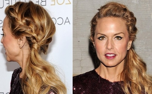 8 Celebrity Inspired Braided Hairstyles That Make You Look Glam With Regard To Flowy Side Braid Ponytail Hairstyles (Gallery 7 of 25)