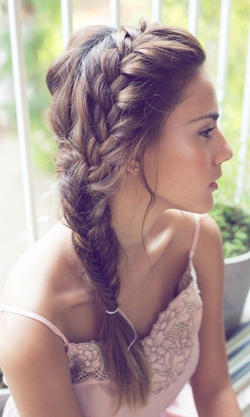 8 Chic Side Braid Hairstyles – Popular Haircuts Inside Simple Messy Side Ponytail Hairstyles (Gallery 13 of 25)