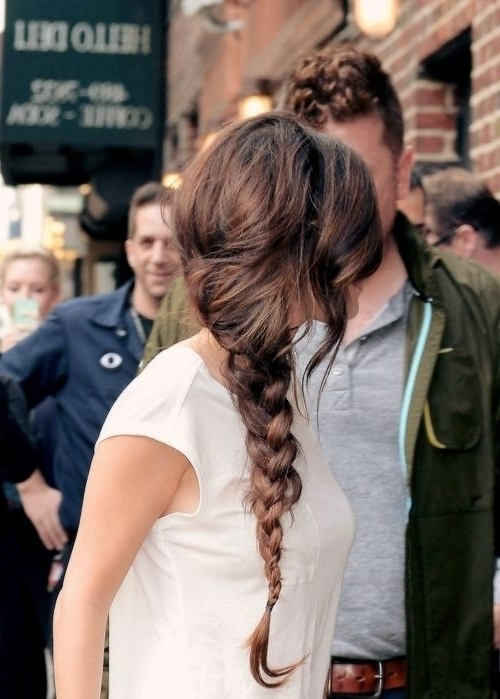 8 Chic Side Braid Hairstyles – Popular Haircuts Throughout Simple Messy Side Ponytail Hairstyles (Gallery 7 of 25)