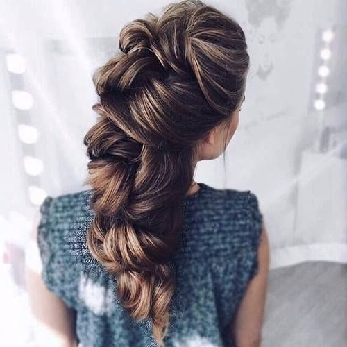 8 Gorgeous Braided Hairstyles For Long Hair | Trends4Everyone | Hair regarding Unique Braided Up-Do Ponytail Hairstyles