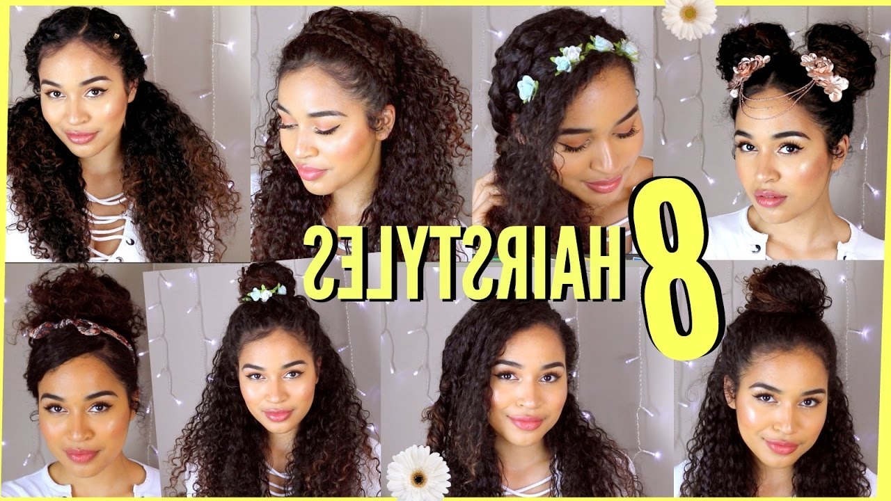 8 Spring/summer Hairstyles For Naturally Curly Hair!lana Summer regarding Naturally Curly Hairstyles