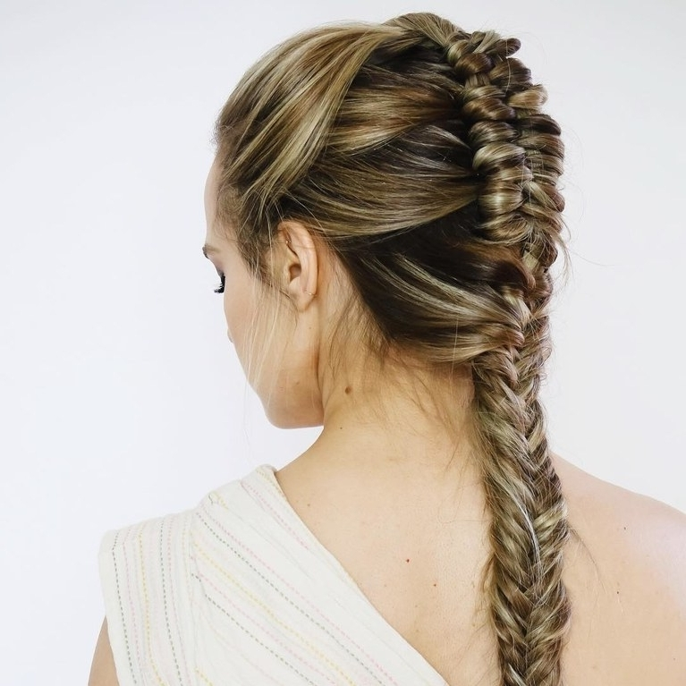 8 Stunning Wedding Hairstyles Inspired*wonder Woman* | Brides Within Braided Glam Ponytail Hairstyles (View 15 of 25)